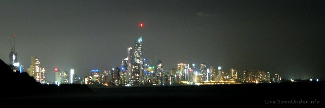Surfers Paradise, Gold Coast by night