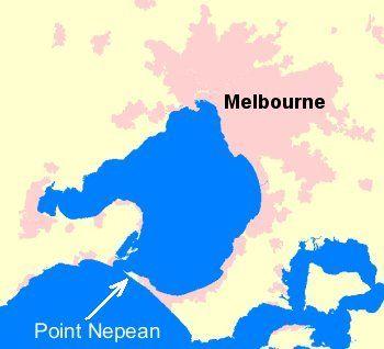 Mapa Point Nepean