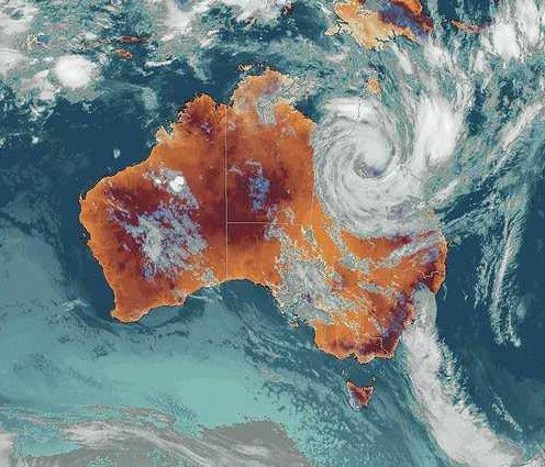 Mapka, cyklon Yasi