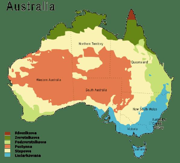 Strefy klimatyczne Australii