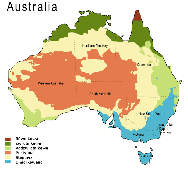 Pory roku oraz klimat w Australii