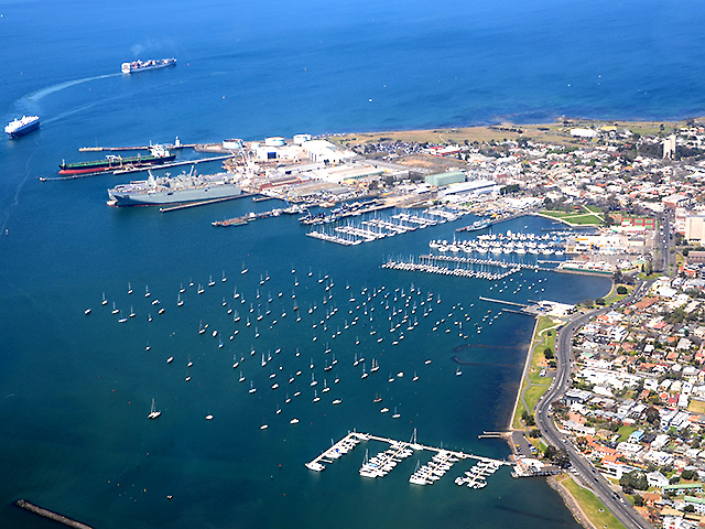 Melbourne z lotu ptaka: Williamstown