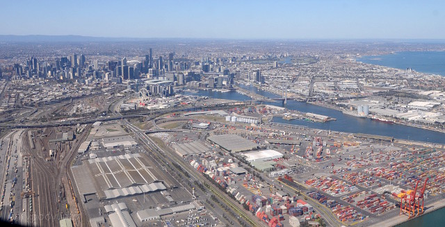 Melbourne z lotu ptaka