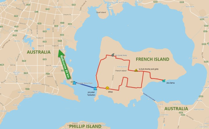 Mapa French Island, Australia