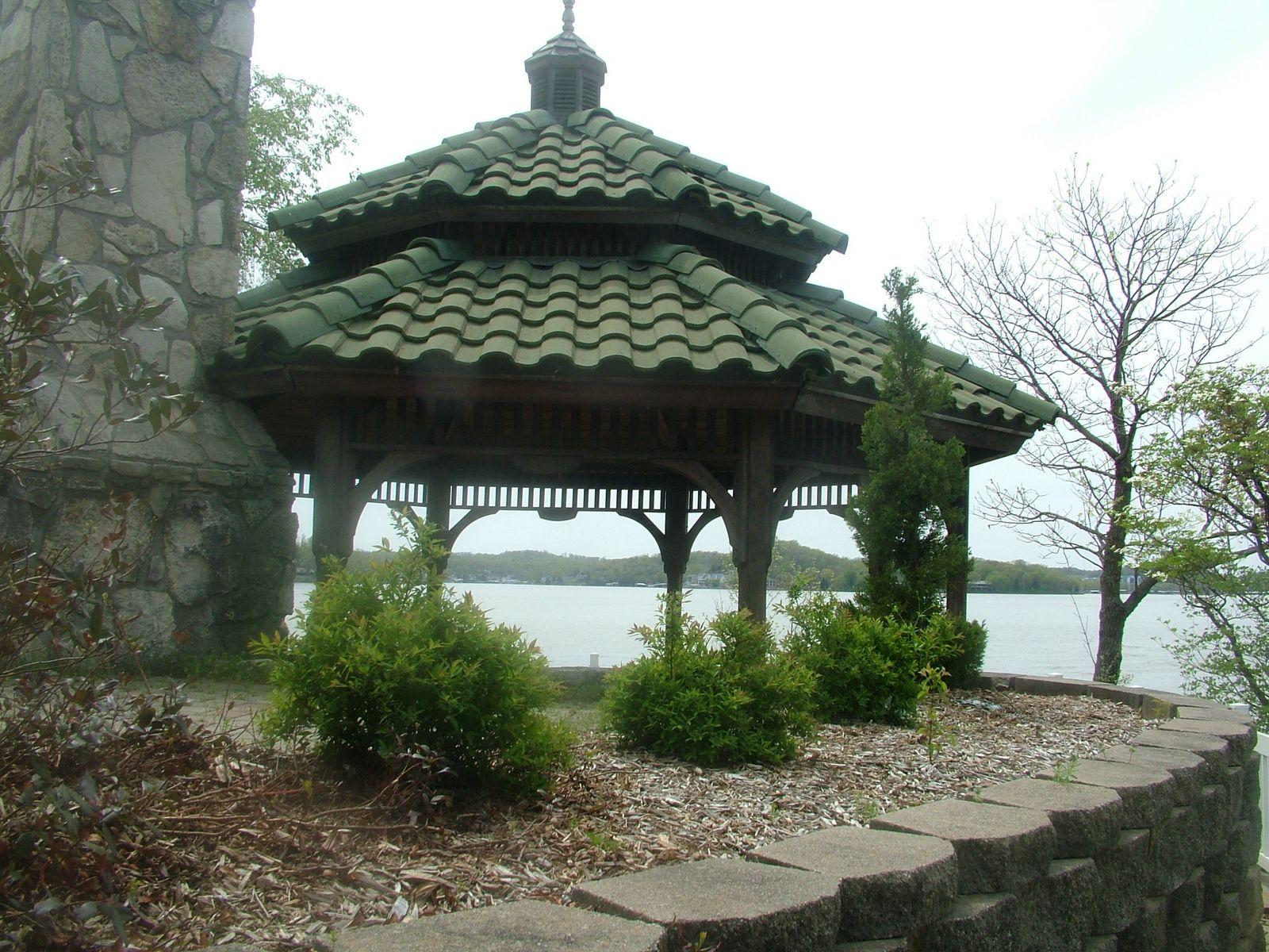 The Gazebo overlooking the Lake.