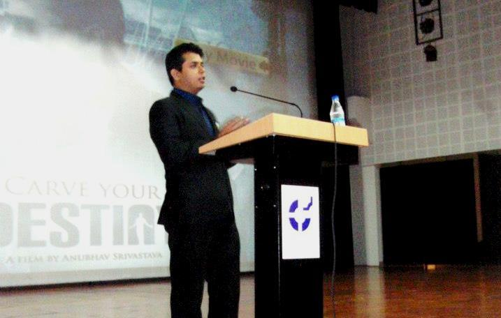 Anubhav Srivastava Delivering A Speech at IIM Indore, one of India's Premier Business Schools.