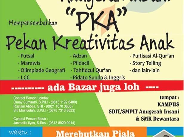 Pekan Kreativitas Anak (PKA) 2014