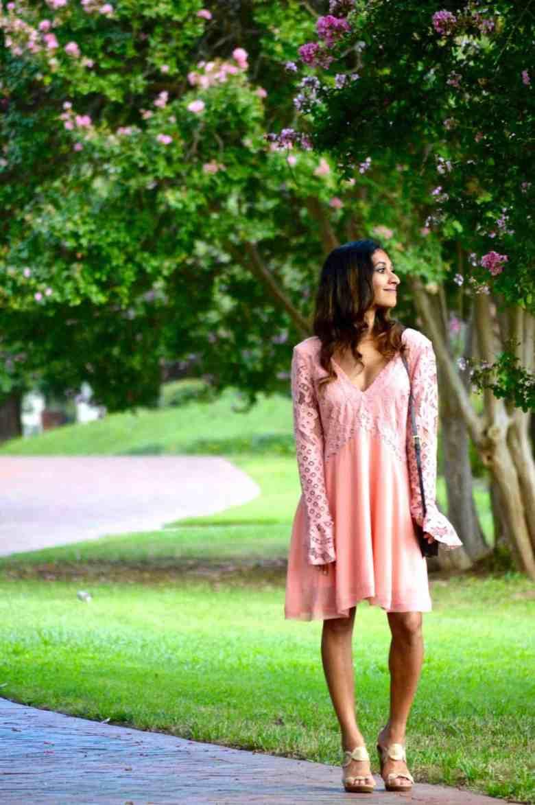 blush revolve dress