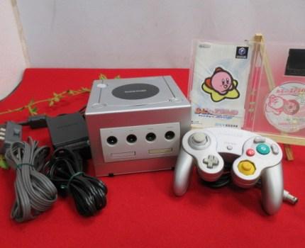 (8M4152)ゲームキューブ 本体(DOL-017)/ソフト/コントローラー セット 動作品 ソフト:カービィのエアライド ゲーム カービィ
