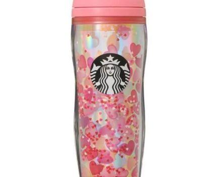 新品・未使用 ★ STARBUCKS スターバックス スタバ ★ バレンタイン2021 ボトルホログラムハート 355ml ★ 完売品
