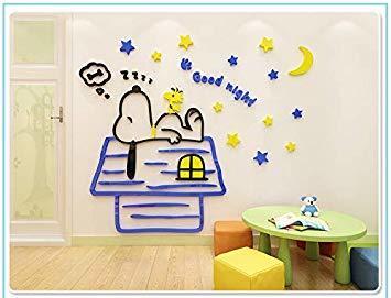 heaven`s seven スヌーピー ウォールステッカー 子供用 居間 寝室 幼稚園児 壁イラスト 壁装飾 ステッカー 小屋