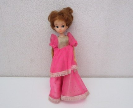 HS143A 初代リカちゃん リカちゃん人形 TAKARA タカラ 日本製 ダッコちゃんマークタグ付 衣装付 全高約20cm 昭和 レトロ