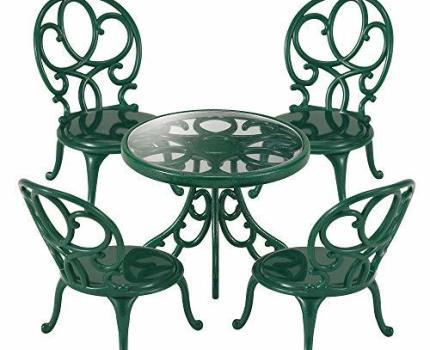 ★美品★ エポック(EPOCH) シルバニアファミリー 家具 ガーデンテーブルチェアーセット カ-621