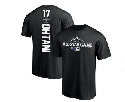 2021 MLB オールスター エンゼルス 大谷翔平 Tシャツ Sサイズ FANATICS製 黒色①