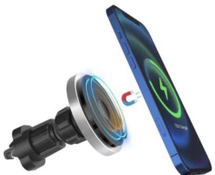 15W 車載充電器 iphone 12シリーズ専用Qiワイヤレス充電器PSE済