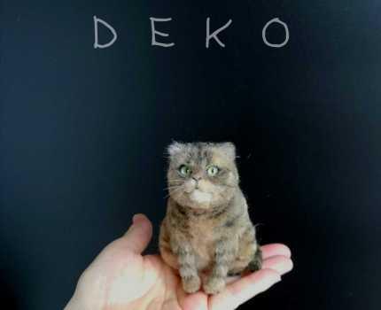◇つんつん工房DEKO◇手のり猫◇キジトラさん◇羊毛フェルト◇ハンドメイド◇ぽっちゃり◇猫◇手のひらサイズ◇