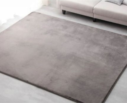 チャコールグレー約3畳 ふわふわ ラグカーペット 洗濯OK