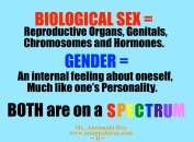 Biological Sex and Gender Both on a Spectrum