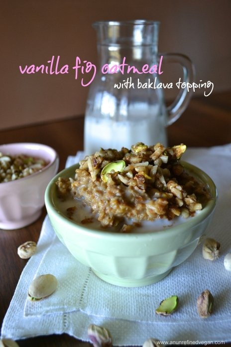 vanilla fig oatmeal