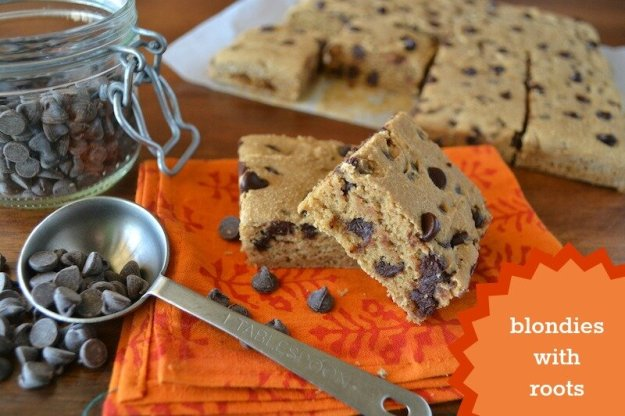 GF Blondies with Roots An Unrefined Vegan