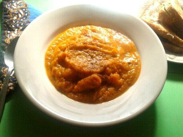 Satay Pumpkin Soup Vee's Easy Vegan