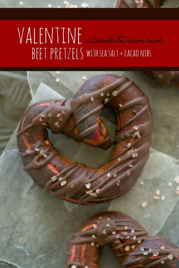 Valentine Chocolate-Covered Beet Pretzels An Unrefined Vegan