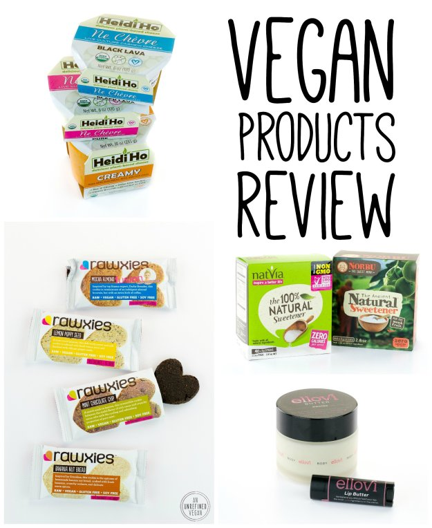 Vegan Products Review by An Unrefined Vegan