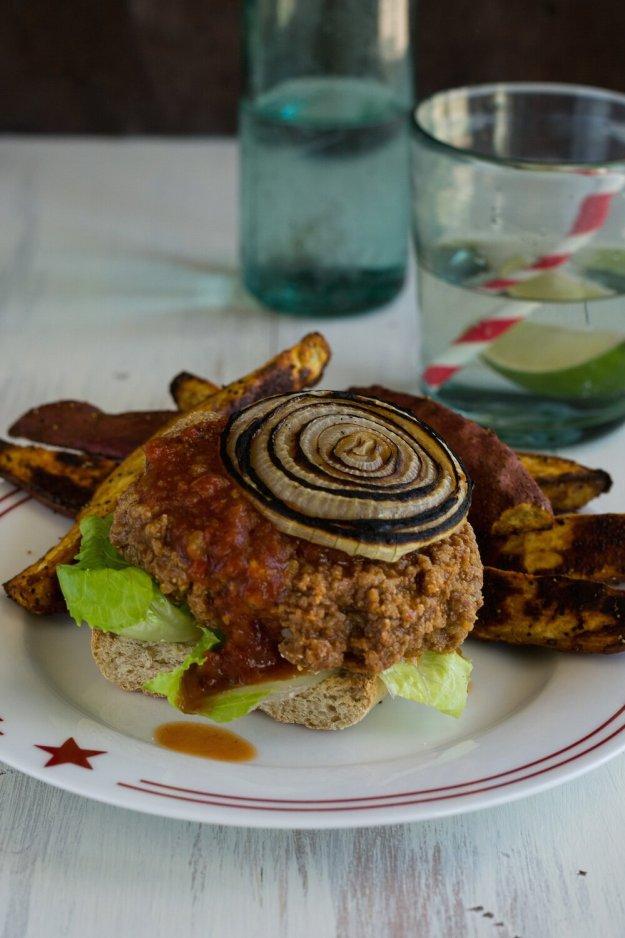 Southwest Burgers Photo by An Unrefined Vegan