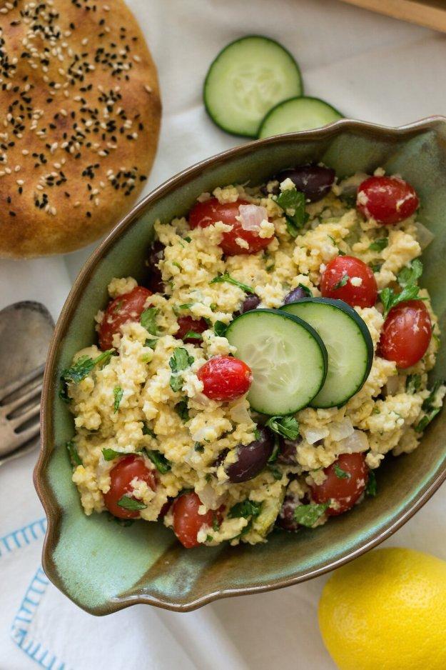 Gluten-free, Oil-free Warm Millet Salad by An Unrefined Vegan