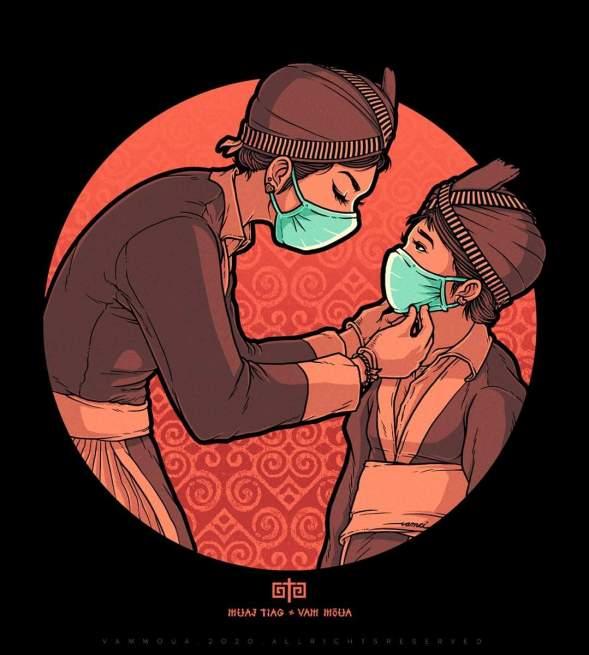 By the Hmong Artist Vam Moua