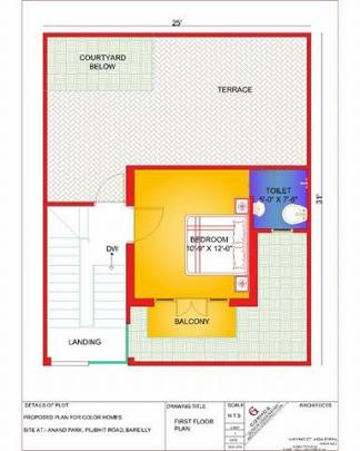 800 sq ft duplex villas-color homes First floor