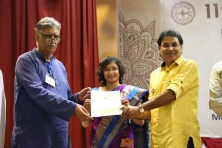 Kafla Intercontinental's International Writers' Meet, Udaipur, 14-15 October, 2016. Honoured with the title SAHITYA SHREE