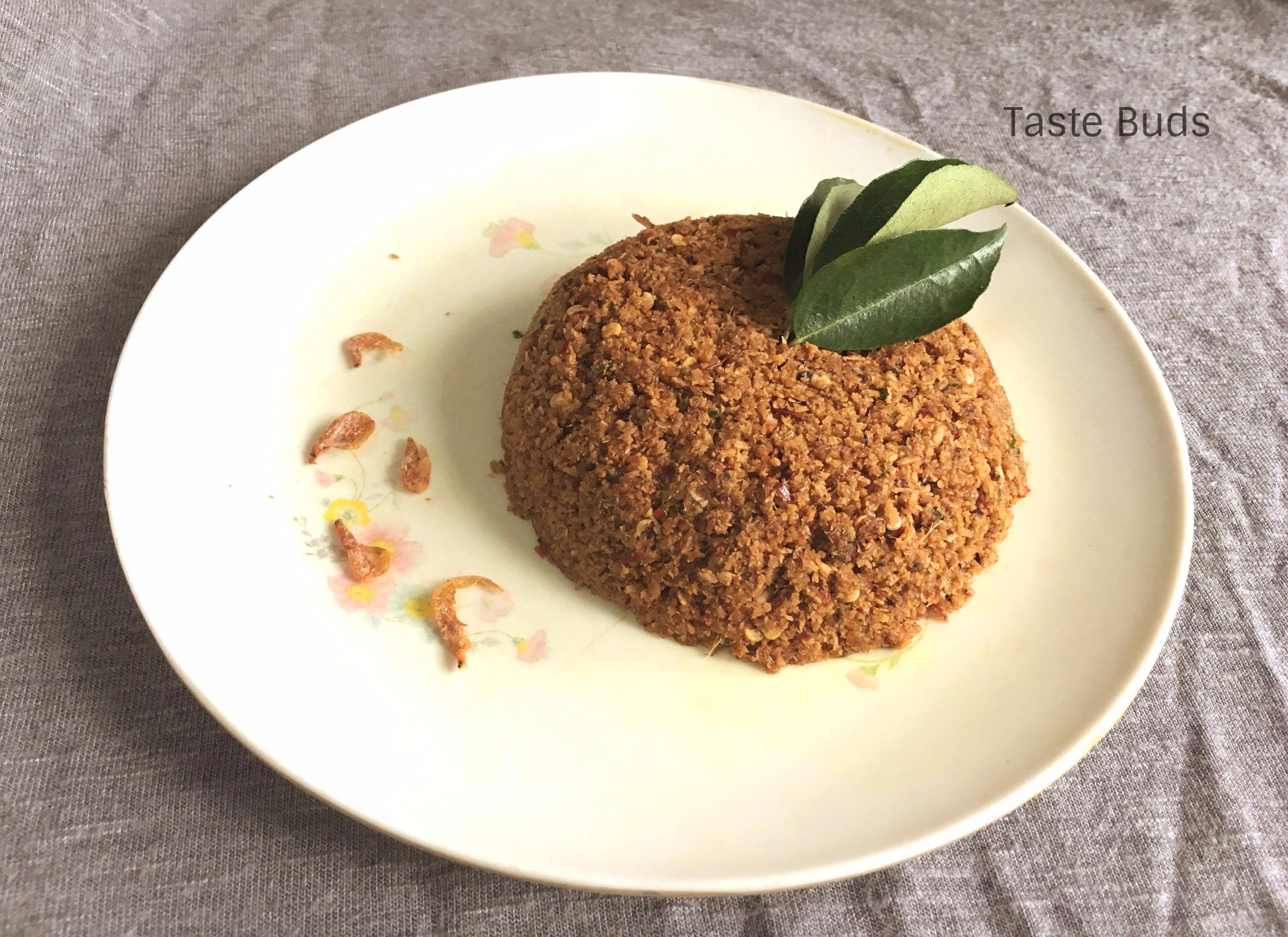 Unakka Chemmeen Chammanthi / Dried Prawns Chutney