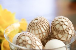 Crochet-Covered Easter Eggs - Flax & Twine