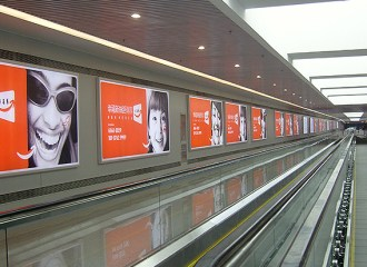 LED advertising light box at Hainan Rail