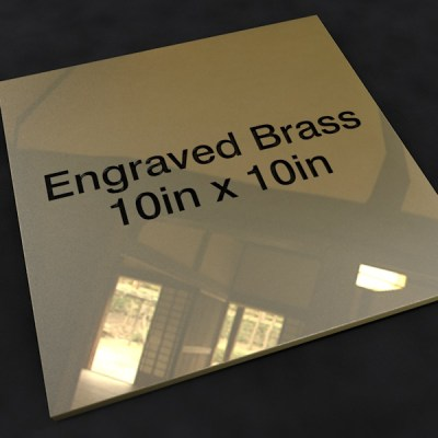 Brass 10in x 10in