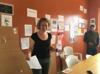 HR-manager Kamille Liv Frederiksen på Lesbos-kontoret i Mytilini.