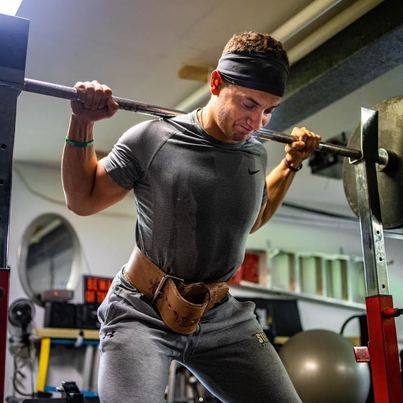 IOCDF Lead Advocate Thomas Smalley Weight Training