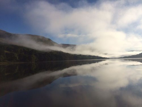 The misty Loch early in the morning