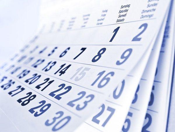 青いカレンダー