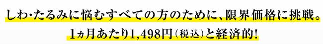 メディプラスゲルはひと月1498円