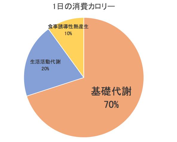 1日の消費カロリー内訳