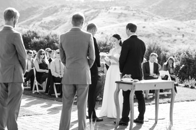Ellery reads her vows during her Manor House Wedding on June 26, 2016, in Littleton, Colorado.