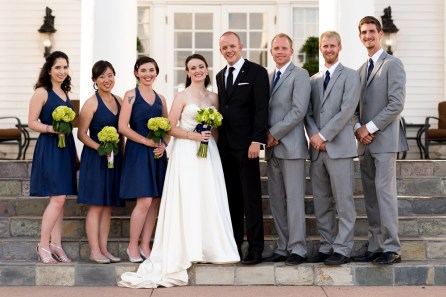 Ellery, Kevin and family pose during their Manor House Wedding on June 26, 2016, in Littleton, Colorado.