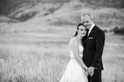 Kevin and Ellery pose Manor House Wedding on June 26, 2016, in Littleton, Colorado.