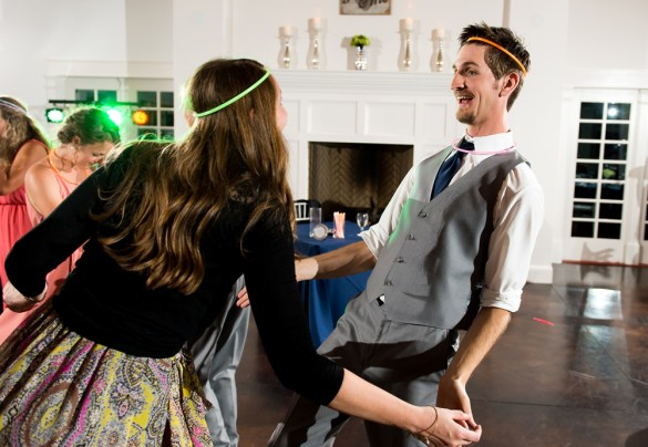 People dance during a Manor House Wedding on June 26, 2016, in Littleton, Colorado.