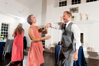 People dance during their Manor House Wedding on June 26, 2016, in Littleton, Colorado.