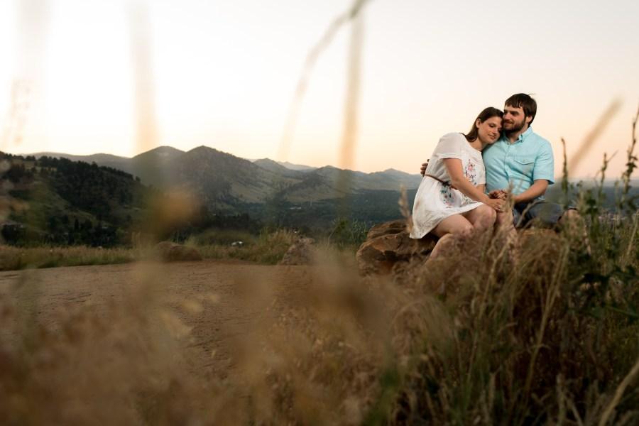Chautauqua Park Engagement Photos in Boulder