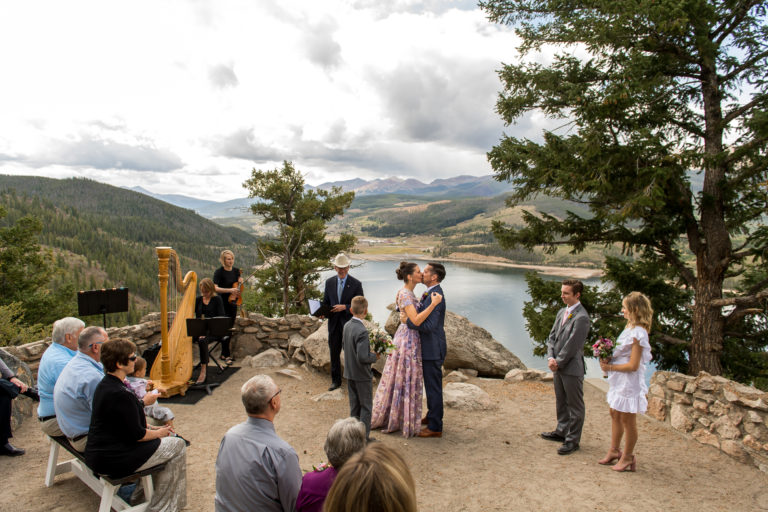 Sapphire Point Wedding photos in Breckenridge, Colorado, near Dillion Reservoir.