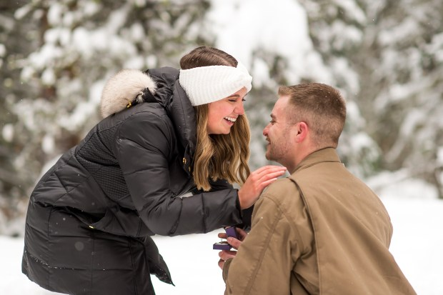 Travis proposes to Sarah in the Colorado mountains